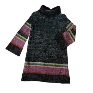 Missoni Metallic Shift Dress with Bell Sleeves
